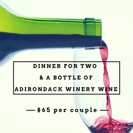 Dinner for Two with Bottle of Adirondack Winery Wine at The View Restaurant in Lake George, NY