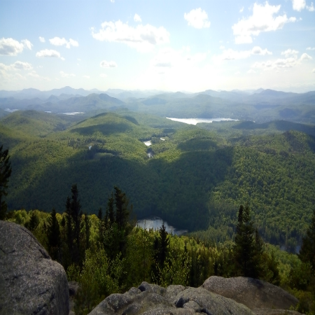 View from the top of hike