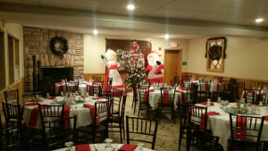 holiday party set lake george room
