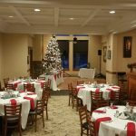tables setup for Holiday Party