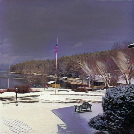 Winter View of Lake George from Dunham's Bay Resort, Lake George, NY