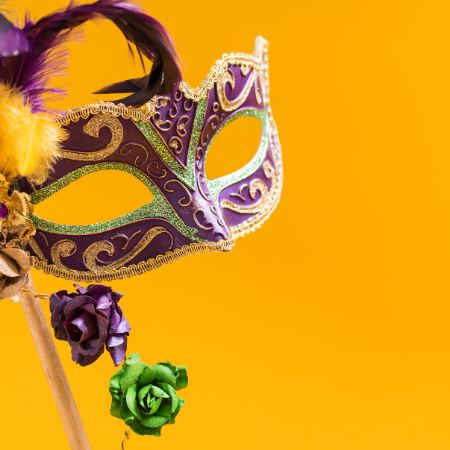 new year's eve mardi gras mask